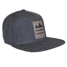 Clip Mountain Wave Patch - Dark Grey