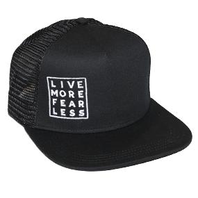 Live More Fear Less Trucker - Black